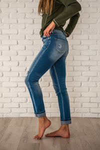 Kancan Straight Leg Button Fly Jeans