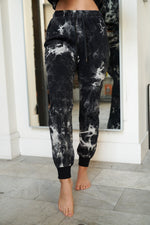 Load image into Gallery viewer, Black Tie Dye Joggers