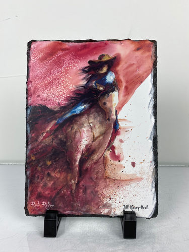 Red Rider slate print