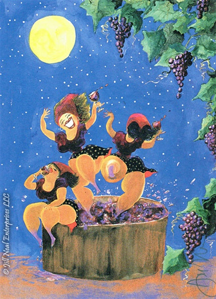 Bacchus Babes Greeting Card