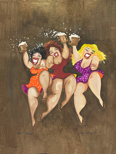 Beer Belles Greeting Card