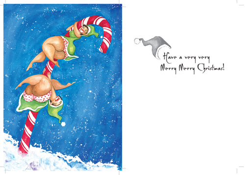Candy Dancers Christmas greeting card