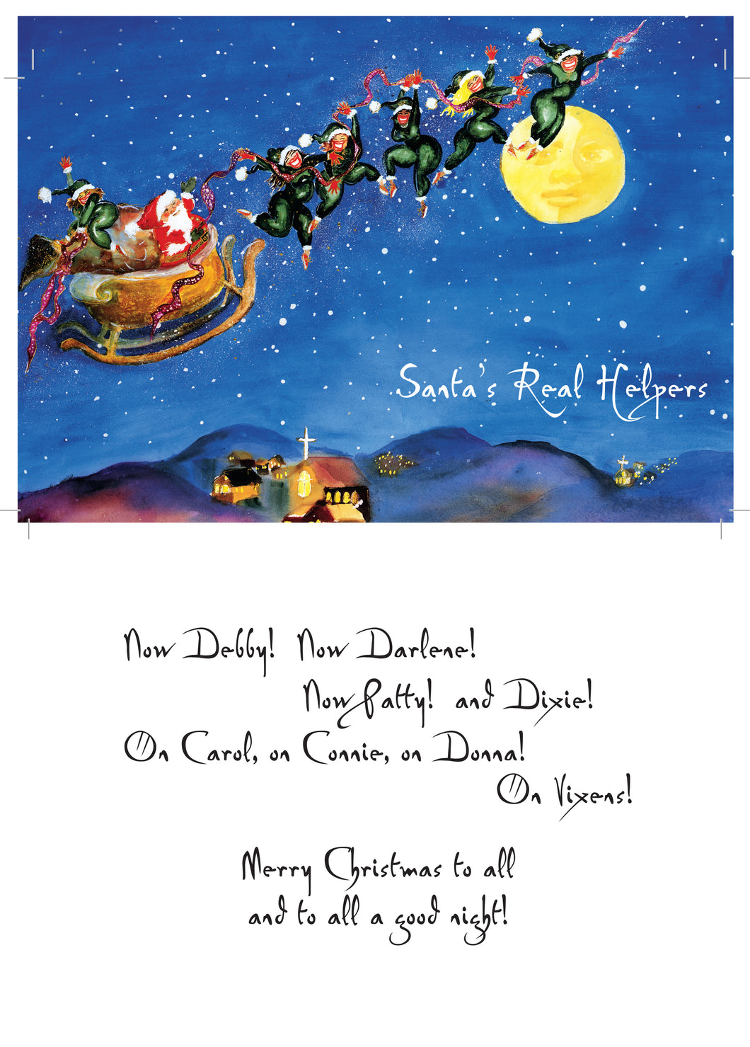 Santa's Real Helpers greeting card