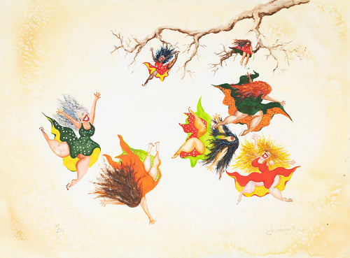 wild women falling leaves