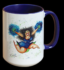 The 12th Woman Mug, Seahawks, Seahawks Fan Mug, Cheerleader Mug, Football Mug