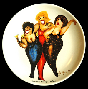 Martini-Themed Wild Women Dessert Plates