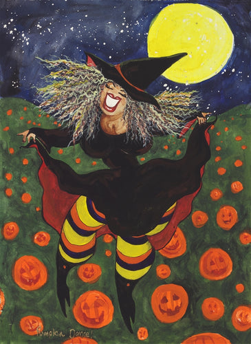 Pumpkin Dance Greeting Card