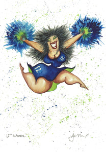 The 12th Woman, Seahawks, Seahawks Fan, Cheerleader, Football Fan
