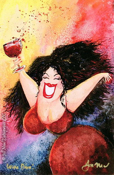 Wine Diva Greeting Card