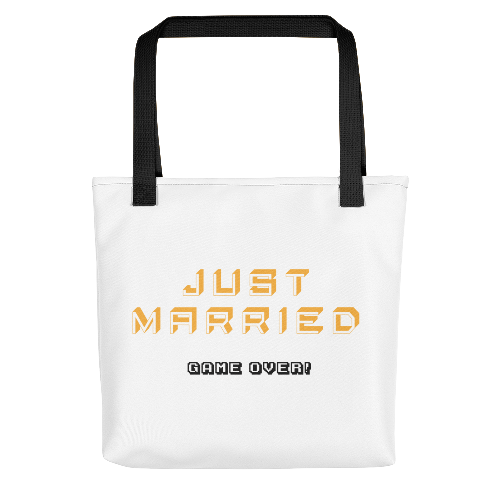 """Just Married = Game Over!"" Tote bag"
