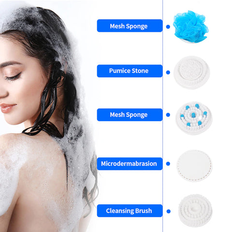 5 In 1 Electric Shower Brush - LuxyGlow