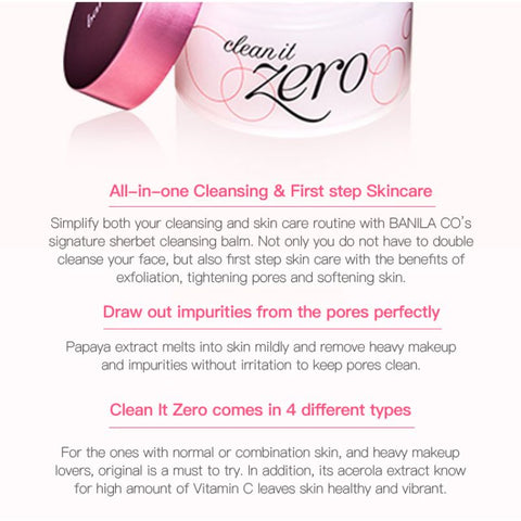 Clean It Zero Makeup Remover - LuxyGlow
