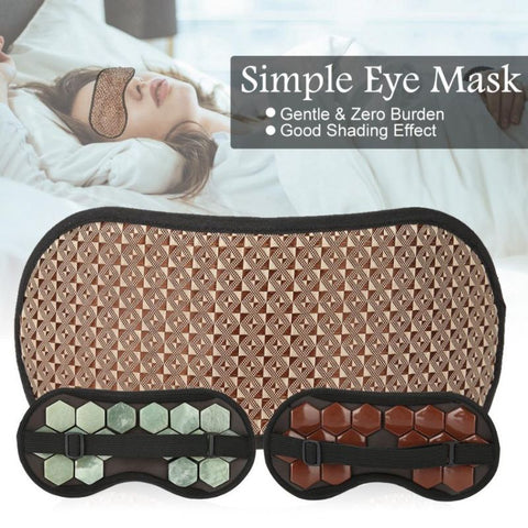 Jade Stone Sleep Eye Mask - LuxyGlow