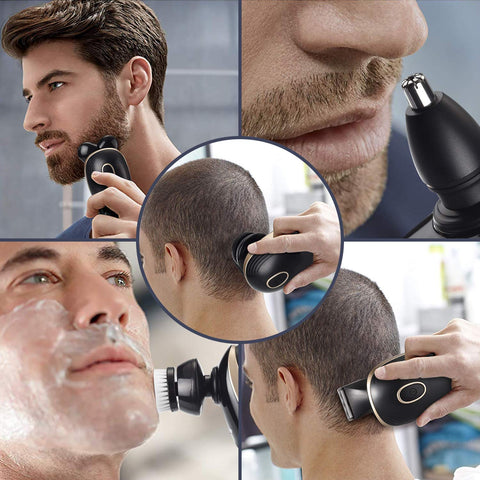 5 in 1 Rechargeable Electric Head Shaver - LuxyGlow