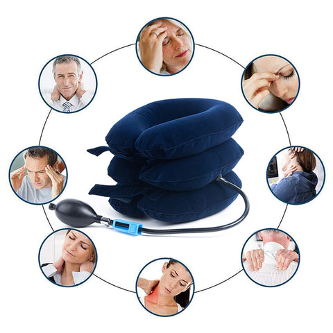 Inflatable Cervical Neck Traction Pillow - LuxyGlow