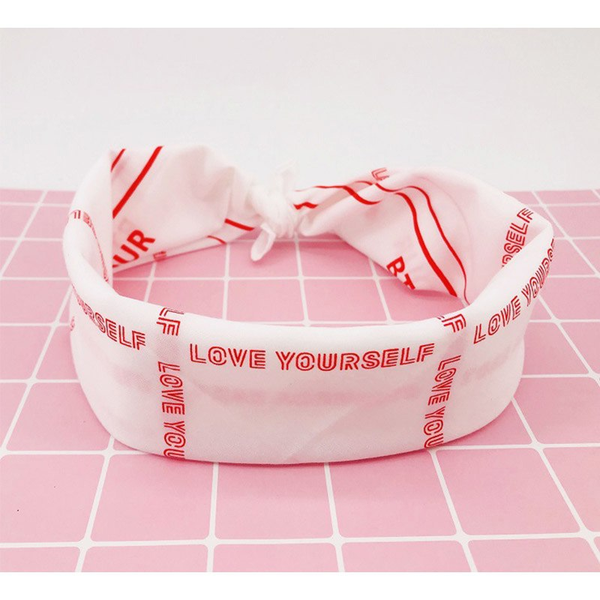New Kpop Bangtan Boys BTS WORLD TOUR Concert Same Cotton Scarf Hip Hop Headband Hair Band Hand Towel