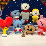 KPOP BTS BT21 Funny Christmas Cooky/TATA/Chimmy Cute Stuff Plush Toys Plush Doll Winter Collection Ver Christmas Gifts