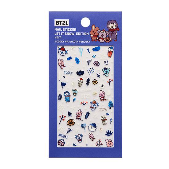 BT21 Nail Sticker Winter Limited edition Official product Tata Chimmy RJ Cooky Shooky VAN Mang Koya
