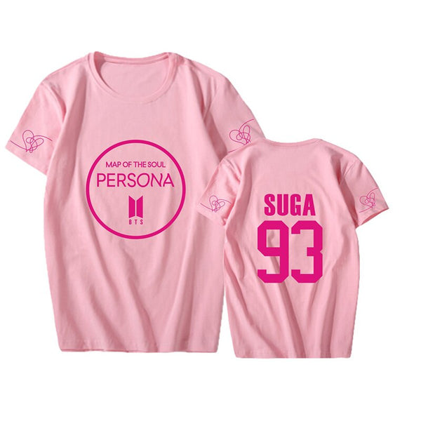 2019 new kpop womens shirts bts map of the soul person Basic Casual Summer Short Sleeve army