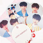 Kpop Bangtan Boys BTS WORLD TOUR Same Translucent Fans LOVE YOURSELF ANSWER Concert Same Fans 18X18 CM