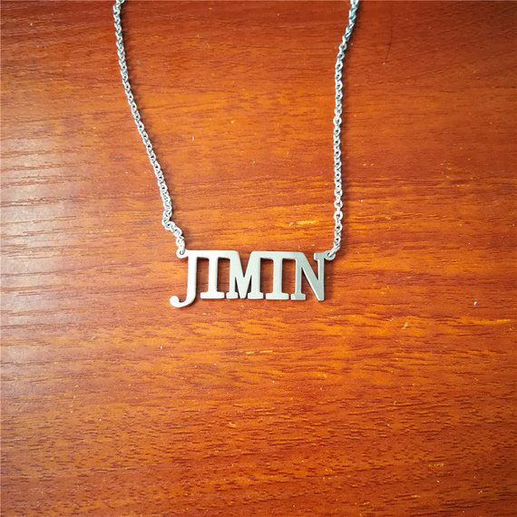 KPOP BTS Love Yourself Army Album Bangtan Boys Choker JIMIN V Pendant Name Letter Necklace Jewelry Accessories Men Women