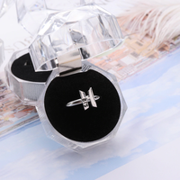 Fashion Women Men Kpop BTS Bangtan Boy Fans Silver Ring Adjustable Open Rings Jewelry Gift