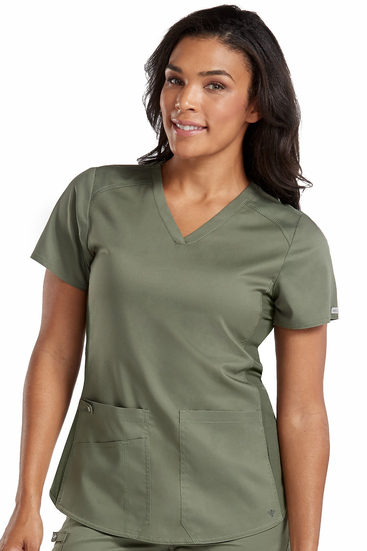 Med Couture Touch 7459 V-Neck Shirttail Top