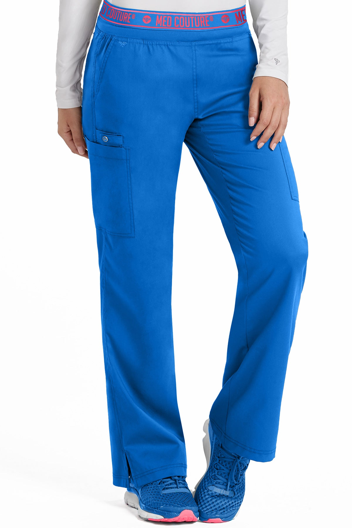 Med Couture Touch 7739 Petite Yoga 2 Cargo Pocket Pant