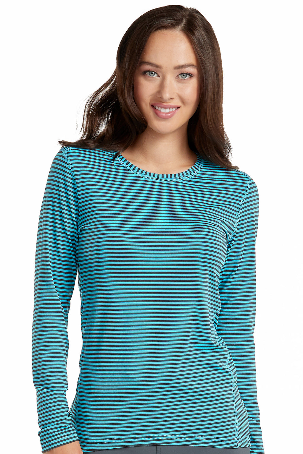 Med Couture Activate 8522 Performance Knit Stripe Tee