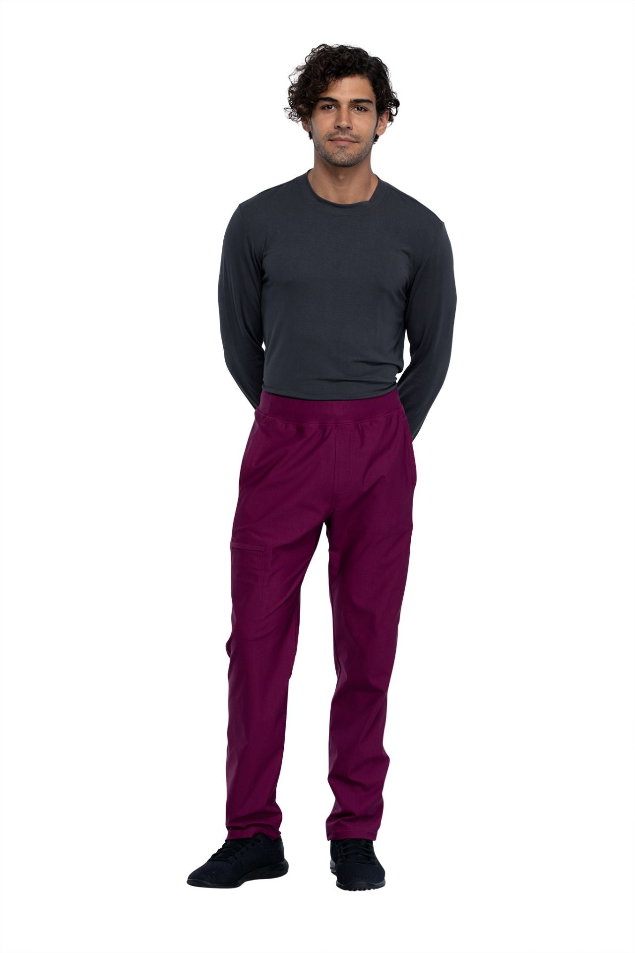 Cherokee Form CK185 Short Men's Tapered Leg Pull-On Pant