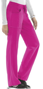 Cherokee Infinity 1123A Petite Low Rise Straight Leg Drawstring Pant