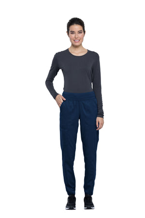 Cherokee Revolution WW011 Petite Women's Natural Rise Tapered Leg Jogger Pant