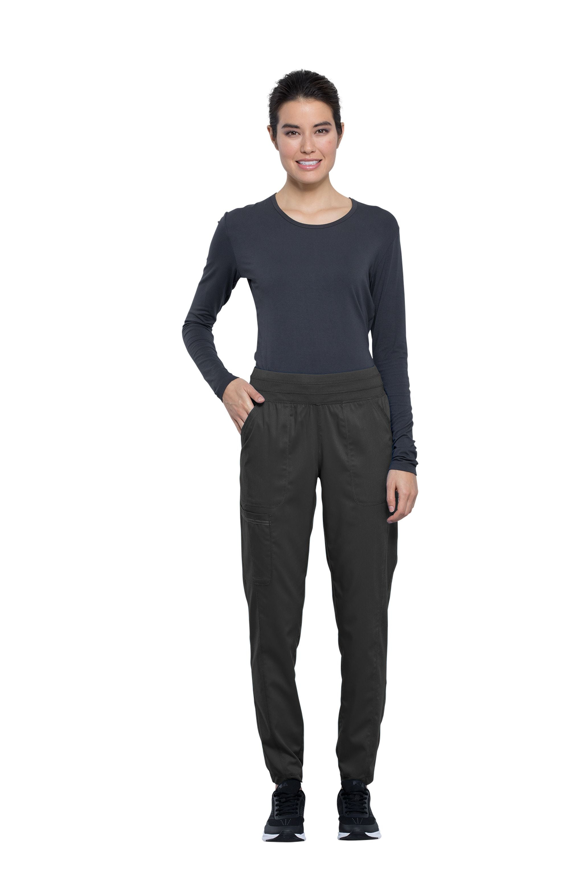 Cherokee Revolution WW011 Women's Natural Rise Tapered Leg Jogger Pant