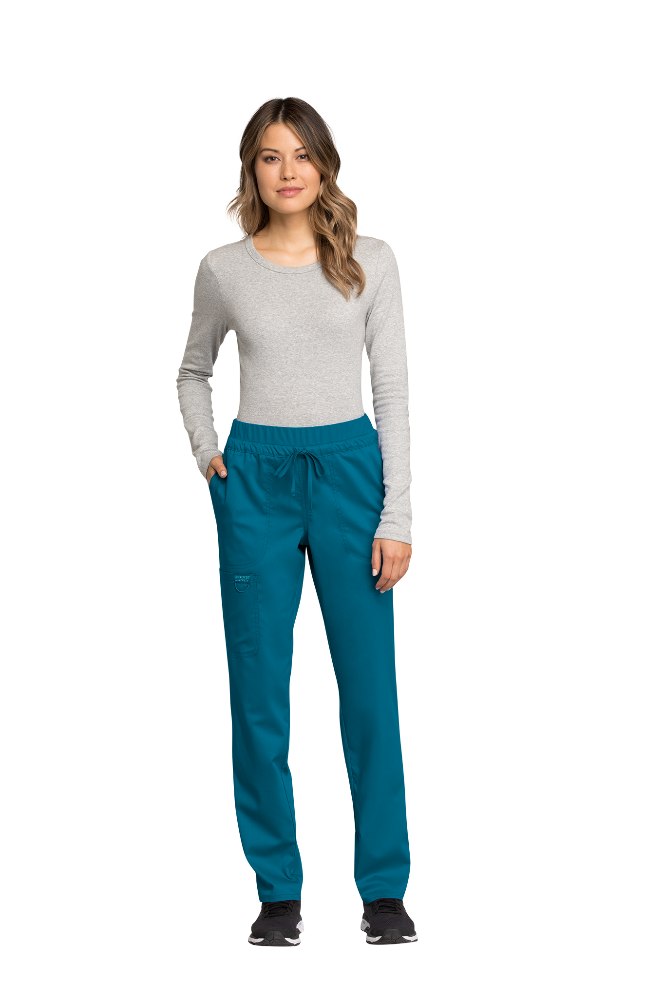 Cherokee Revolution WW105 Tall Mid Rise Tapered Leg Drawstring Pant