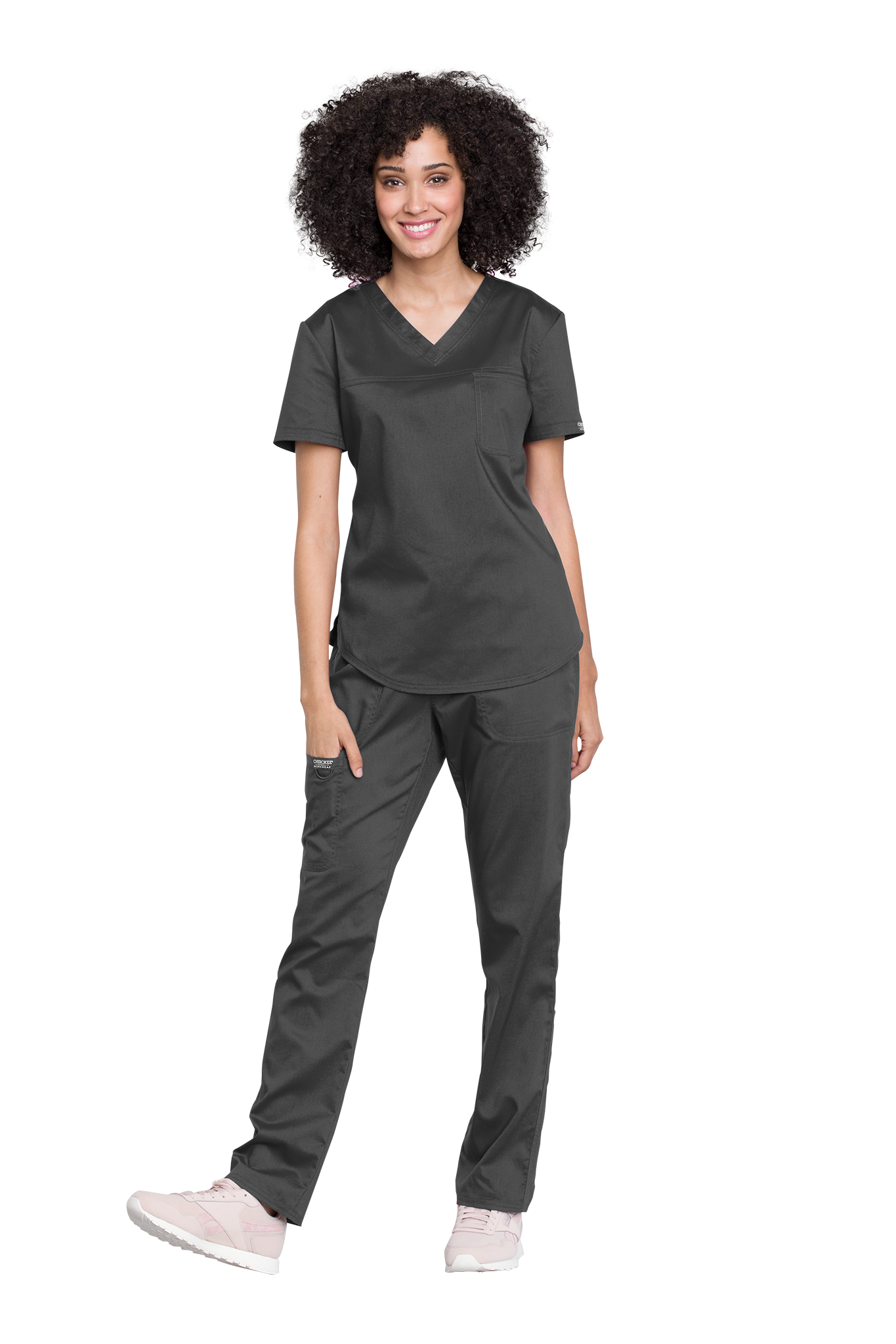Cherokee Revolution WW657 V-Neck O.R. Top