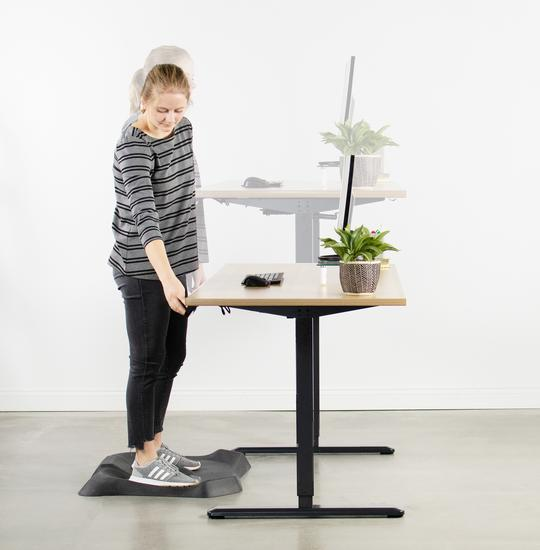 VIVO White Electric Stand Up Desk Frame Single Motor Standing Height Adjustable