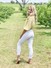 Summer White Distressed Skinny Jeans