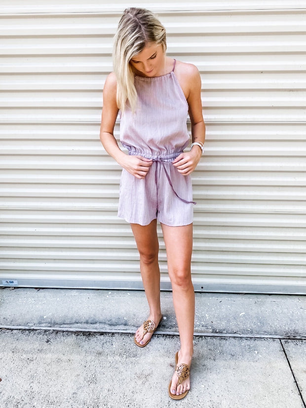 Dusty Romper in Lavender