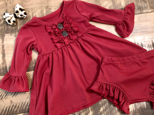 Clara Dress in Cranberry