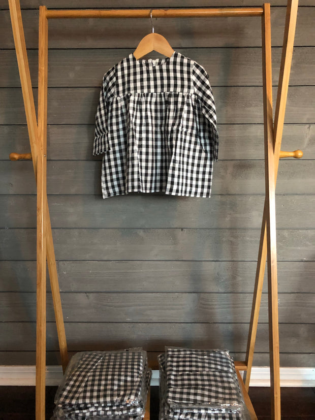 Empire Gingham Dress
