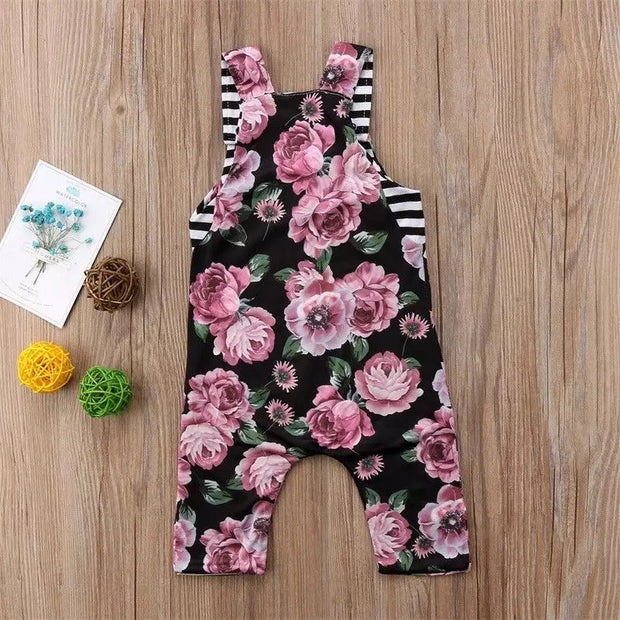 Rosie Rae Reversible Cropped Overalls