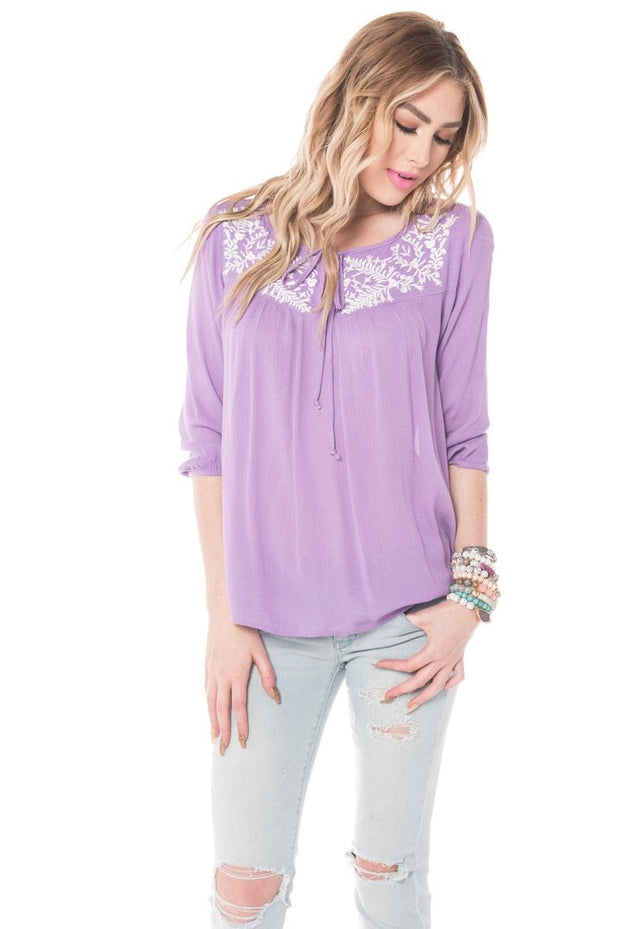 Holly Embroidered Top