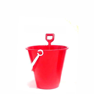 Small Red Bucket & Spade