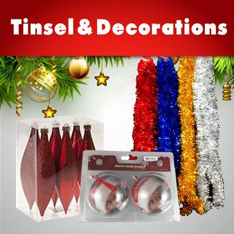 Christmas Tinsel and Decorations Wholesale