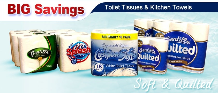 Toilet Tissues & Kitchen Towels Wholesale