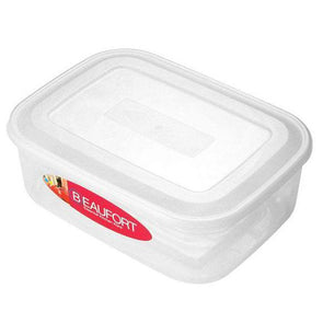3 Litre Rectangle Food Containers (Clear Base with Lid) - Case of 12