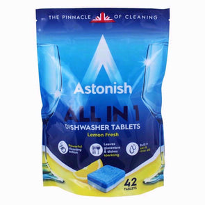 Astonish All in 1 Dishwasher Tablets Lemon Fresh 42 Pack