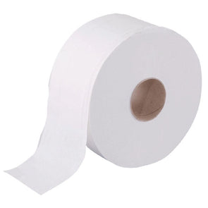 Mini Jumbo White Toilet Paper 12 Roll Pack