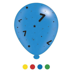 """7"" Design Latex Birthday Balloons Assorted Colours 8 Pack - Case of 6"