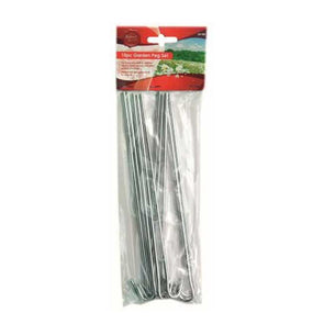 10pc Metal Garden Tent Pegs